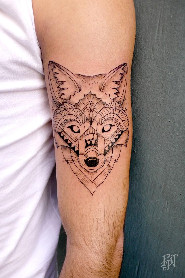 Emile Bleu Noir Tattoo