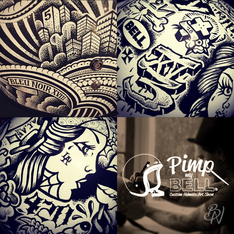 Co branding bleu noir tattoo for Pimp branding tattoos
