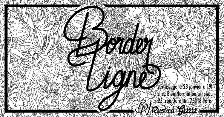 fly-borderligne-Bleu-noir-tattoo-art-shop-abbesses-paris-vernissage-Olivia-de-Bona