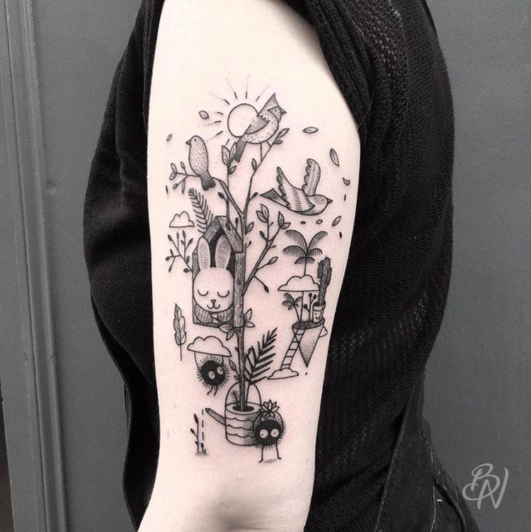 Tattoos bleu noir tattoo for Salon tattoo paris