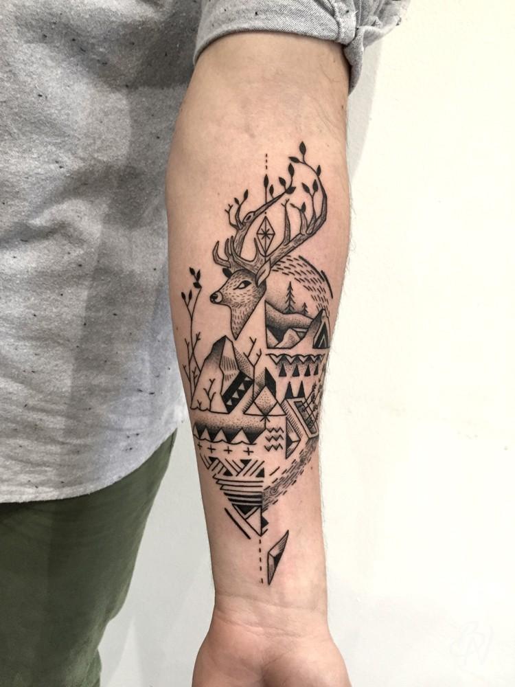 mast cora | bleu noir tattoo